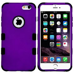 """myLife 2 Layered Protection Hybrid Bumper Case for iPhone 6 Plus (5.5"""" Inch) by Apple { Deep Lilac + black """"Professional Modern Design"""" Three Piece SECURE-Fit Rubberized Gel} myLife Brand Products http://www.amazon.com/dp/B00P9NBGC4/ref=cm_sw_r_pi_dp_cb5yub1FF8SES"""