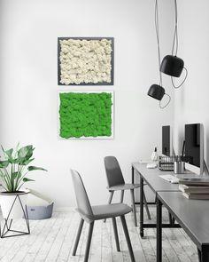 Moosbilder lassen sich auch wunderbar kombinieren. Da wird jede Wand zum Hingucker. Dining Table, Design, Furniture, Home Decor, Nice Asses, Ideas, Decoration Home, Room Decor, Dinner Table