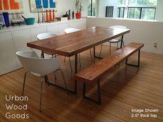Brooklyn Modern Rustic Reclaimed Wood Dining by UrbanWoodGoods
