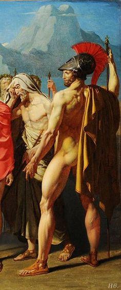 Detail: Achilles receiving ambassadors of Agamemnon. 1801.  Jean Auguste Dominique Ingres.