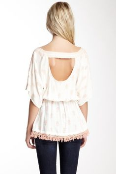{African Rain Top} love the peek-a-boo back
