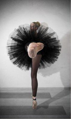 Foreshortened ballerina