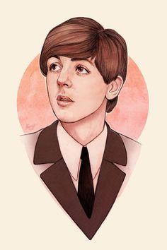 Portrait illustration by Helen Green.