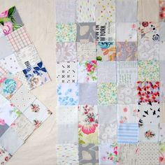 """Linda Dutch on Instagram: """"Tempted by a few lovely softly coloured quilts lately... so taking a break from my usual brightly saturated colours. Making up lots of low…"""" Take A Break, Take That, Low Volume Quilt, Saturated Color, Dutch, Colours, Bright, Quilts, Blanket"""