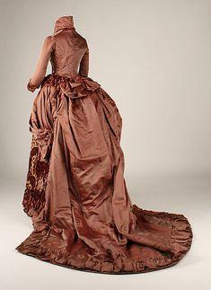 Silk dress, American, ca. 1879. The Metropolitan Museum of Art