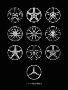 Mercedes-Benz Wheels, Auto Icon Series - NOMO studio, Jerome Daksiewicz