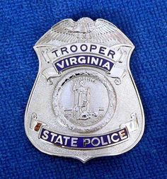 Virginia State Police Badges and Collectables