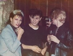 Duran Duran at the Rum Runner, early 1980s; Andy, Roger & Nick