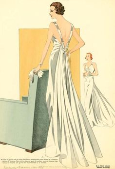 Elegant 1930s Evening Gown ✿