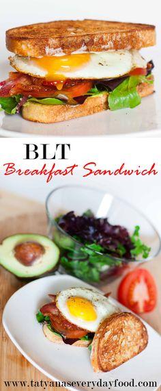 BLT Breakfast Sandwich: Video Tutorial - Tatyana's Everyday Food