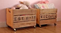 Storage crates from pallets. Cheap!