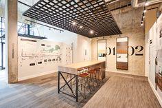 Platform by Aragon Properties - Free Agency Creative Sales And Marketing, Marketing Ideas, Sales Center, Interior Design Sketches, Real Estate Office, Sales Office, Gym Design, Environmental Design, Ground Floor
