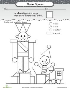 Worksheets: Shape Dimensions: Plane Figures