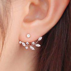Earring Type Stud Earrings Gender For Women Material Rhinestone Style Trendy Shape/Pattern Plant Length 2CM-3CM Weight 0.080KG Package Contents 1 x Earring(Pair)