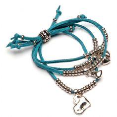 Silver Heart Charm Turquoise Suede  Friendship Bracelet -BR256T We Love Heart, Heart Jewelry, Heart Charm, Friendship Bracelets, Turquoise, Originals, Silver, Leather, Hearts