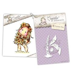 Magnolia Stamps - Stamp & Cutz - Capturing Moments - Hawaii Tilda & Coconut Tree