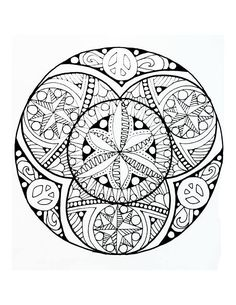 peace, floral, flowers, hippie, peace sign, coloring page, adult ... - Peace Sign Mandala Coloring Pages