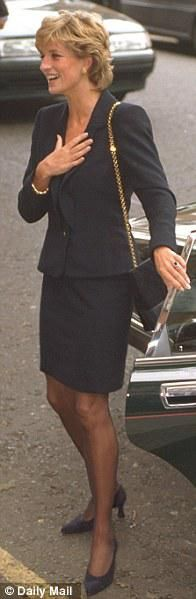 September 19 1995 Diana visits the Parkinson's Disease Research Centre at London's King's College Hospital