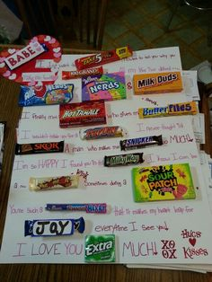 Valentine's day gift I made for my boyfriend :) he loves candy so hope he likes it ♥