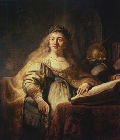 Saskia as Minerva - Rembrandt (1606-69).