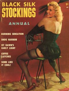 Black Silk Stockings Annual 1959 vintage adult straight magazine collectible