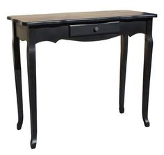 'Noir' French Provincial Style Black Console Table