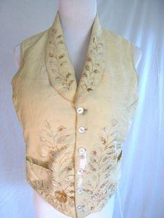 Antique men's waistcoat vest late 1800s by vintageboxofdelights, $115.00