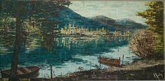 marine impressionniste a identifier circa 1964 huile sur toile signature 100X50