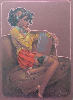 Dinah - Blacksad par Juanjo Guarnido - Oeuvre originale http://en.2dgalleries.com/art/dinah-blacksad-19562