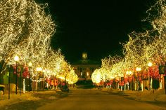 Historic Downtown Littleton, Colorado during the holidays.