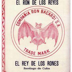 Bacardi Ron 1957 Santiago de Cuba , vintage Bacardi Rum label from Cuba