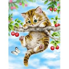 5D Kitten In The Basket And Dog With A Bow Diamond Painting Cross Stitch Kit G