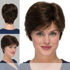 TORI by Estetica Design in color Short Grey Hair, Short Hair Cuts, Short Hair Styles, Gray Hair, Buzzed Hair, Monofilament Wigs, High Society, Hair Beauty, Pretty