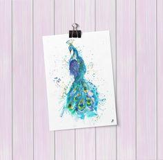 Prince Peacock Art Poster Mini Print