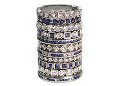 platinum, diamonds + sapphires