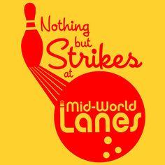 Nothing but Strikes at Mid-World Lanes! #darktower