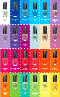 O.P.I. Nail Polish Colors- O.P.I. has some of the MOST WONDERFUL nailpolish colors!! I love each and every single one of them!! <3 <3 <3 <3 <3 <3 <3 <3 <3 <3 xoxoxox #opinailpolish #opi