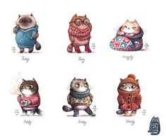 Cozy Cats Club by Iraville.deviantart.com on @DeviantArt