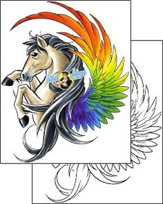 Horse Tattoo animal-horse-tattoos-cherry-creek-flash-ccf-00937
