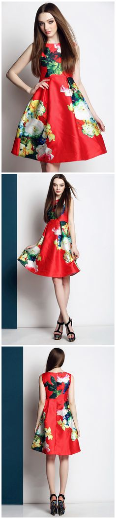 Wholesale European Style O&Y Summer Rose Print Midi Vest Dress for wholesale womendress| EMAIL:inform@clubwholesale.net Whatsapp:+8613925860560 #silkdress #dressparty | #Chinawholesale