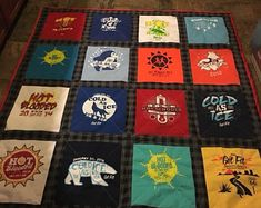 Items similar to Custom t-shirt quilt - Maryland Nate on Etsy Crown Royal Quilt, Crown Royal Bags, Necktie Quilt, Shirt Quilt, Longarm Quilting, Machine Quilting, Football Quilt, Quilt Making, T Shirt