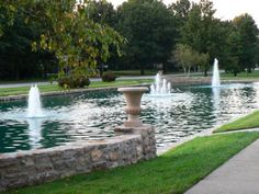 """""""Ward Parkway Mirror Pool Fountain""""  Location: West 61st Terrace & 62nd St on Ward Parkway, Kansas City, MO  Owner: Kansas City Parks and Recreation Department  Dates: 1924  Photo Credit: Kansas City Parks and Recreation Department"""