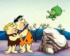 saturday morning cartoons - the great and powerful gazoo on Flintstones Good Cartoons, Old School Cartoons, Classic Cartoons, 1970s Cartoons, Cartoon Tv Shows, Cartoon Characters, Fred Flintstone, Flintstone Cartoon, 1970s Tv Shows