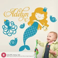 Princess Mermaid Decal Ocean Wall Stickers by Graphic Spaces -