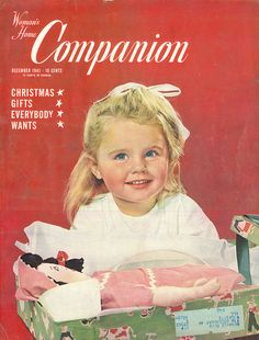 The charmingly sweet December 1941 cover of Woman's Home Companion magazine.