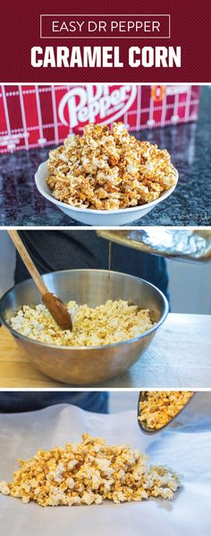 This Easy Dr Pepper® Caramel Corn has us thinking of delicious ways to cheer on our favorite football team this fall. And in our opinion, there's no better way to do that than with shareable snacks packed with flavor—thanks to Dr Pepper® baked right in! Check out this recipe to see how simple this game day dish is to make as you stock up on party essentials for the season.