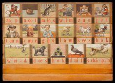 """Leesplank """"aap, noot, mies"""" (1931) van M.B. Hoogeveen (1863-1941)"""