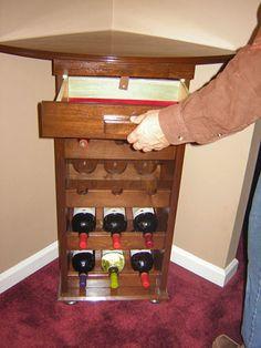 Show Us Your Stuff   Corner Wine Rack Design