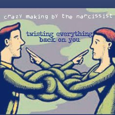 Goal of the narcissist: confusion, lies, manipulating, gaslighting ... its what they do.