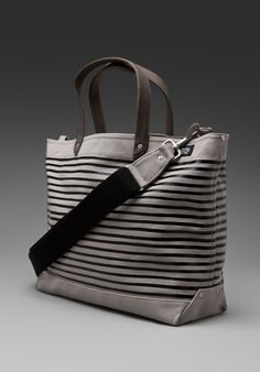 JACK SPADE Stripe Printed Coal Bag in Grey at Revolve Clothing - Free Shipping!